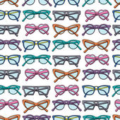 Pattern with glasses — Stock Vector
