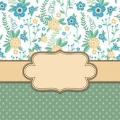 Vintage flower frame — Stock Vector