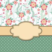 Vintage flower frame — Stock Vector