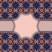 Marco con patrones abstractos — Vector de stock