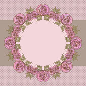 Frame with roses — Vetorial Stock