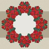 Frame met rozen — Stockvector