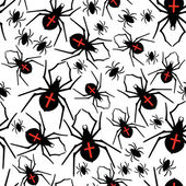 Spiders seamless pattern — Stock Vector