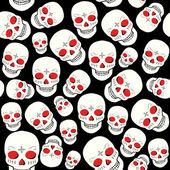 Spooky halloween skull illustration — Stock Vector