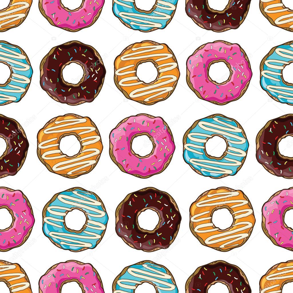 Рисунок пончики вкуснейшие - 063
