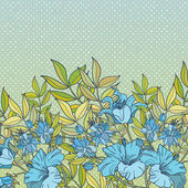 Blue floral vector background — Stock Vector