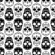 Vector pattern with skulls — Stock Vector #28693091