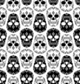 Vector pattern with skulls — Vettoriale Stock