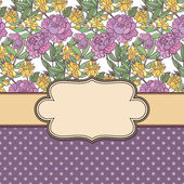 Vintage vector flower frame — Vecteur