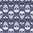 Vector pattern with skulls — 图库矢量图片
