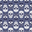 Vector pattern with skulls — Stock vektor