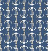 Vector anchors pattern — Stock Vector