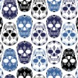 Vector pattern with skulls — Imagen vectorial