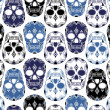 Vector pattern with skulls — Stockvectorbeeld