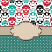 Frame with skulls — Vector de stock