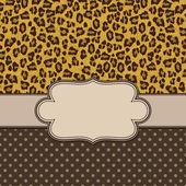 Vector leopard skin frame — Stock Vector