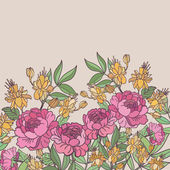 Cute floral seamless pattern background — Stock Vector