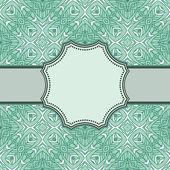 Vintage Vektor Blume frame — Stockvektor
