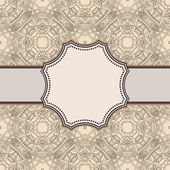 Vintage brown flower frame — Stock Vector
