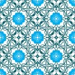 Vintage blue flower frame — Stock Vector #30749539