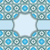 Vintage blue flower frame — Stock Vector