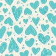 Valentine pattern with hearts — Stock Vector