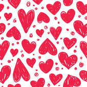 Valentine pattern with red hearts — Stock Vector