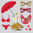 Fashion accessories — Imagen vectorial