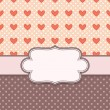 Retro vector frame with hearts — Stock Vector