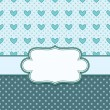 Vintage vector frame with hearts — Stock Vector
