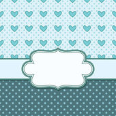 Vintage vector frame with hearts — Stockvector
