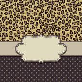 Vector leopard frame — Stock Vector