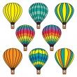 Ballons pattern background — Stockvectorbeeld
