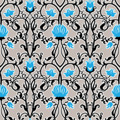 Vintage flowers pattern — Stock Vector