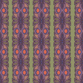 Pattern drawn in art nouveau style — Stock Vector