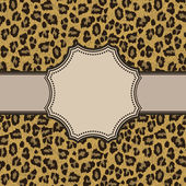 Marco de leopardo — Vector de stock