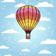 Hot air balloon — Stock Vector