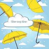 Frame with umbrellas — Stock Vector