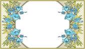 Flower frame — Stockvektor