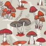 Mushrooms pattern — Stock Vector #41068879