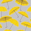 Pattern with yellow umbrellas — Stock Vector