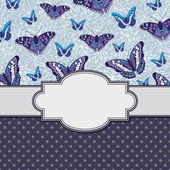 Frame with butterflies — Stock Vector