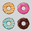 Colorful donuts — Stock Vector #42427841