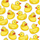 Rubber duck on white background — Stock Vector