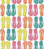 Pattern with colorful flip flops. — 图库矢量图片
