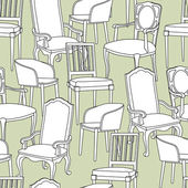 Pattern with armchairs — 图库矢量图片