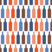 Seamless pattern with wine bottles — 图库矢量图片