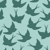 Birds seamless pattern, — Stock vektor