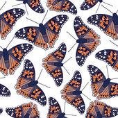 Modello con farfalle — Vettoriale Stock