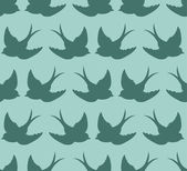 Pattern with birds — Stock Vector